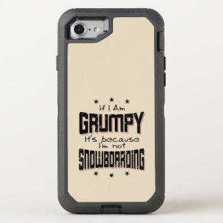 MÜRRISCHER nicht SNOWBOARDING (Schwarzes) OtterBox Defender iPhone 8/7 Hülle
