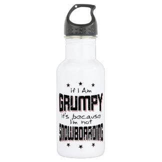 MÜRRISCHER nicht SNOWBOARDING (Schwarzes) Trinkflasche