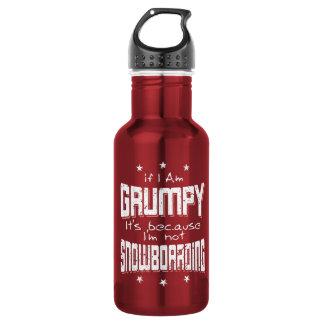 MÜRRISCHER nicht SNOWBOARDING (weiß) Trinkflasche