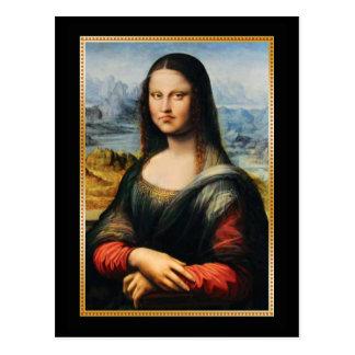 Mürrisches Gesicht Da Vincis Mona Lisa Postkarte