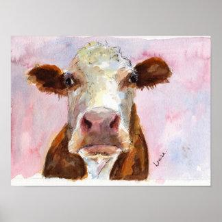 Mürrisches Kuh-Plakat Poster