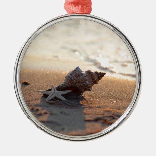 Muschel am Meer Silbernes Ornament