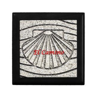 Muschel EL Camino, Plasterung, Spanien (Titel) Erinnerungskiste
