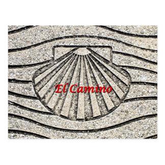 Muschel EL Camino, Plasterung, Spanien (Titel) Postkarte
