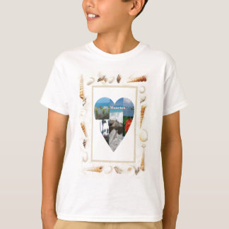 Muschel-Herz Liebe I St. Maarten -. Celeste T-Shirt