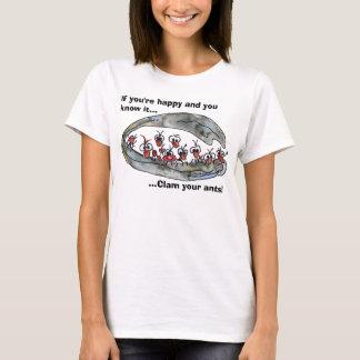 Muschel Ihr Ameisen kundenspezifischer T - T-Shirt