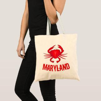 Muschel-Krabben-Meeresfrüchte Maryland MD rote Tragetasche