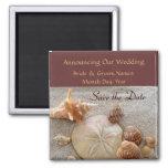 Muscheln, die Save the Date Magneten Wedding sind Magnete
