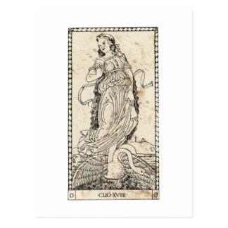 Muse Klio Clio Geschichte history Postkarte