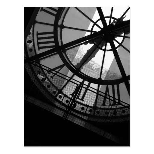 Musee d'Orsay Uhr-Postkarte