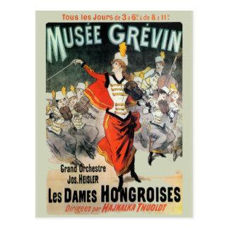 Musee Grevin Neuauflage-Vintage Postkarte