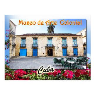 Museum der Kolonialkunst, Havana, Kuba Postkarte
