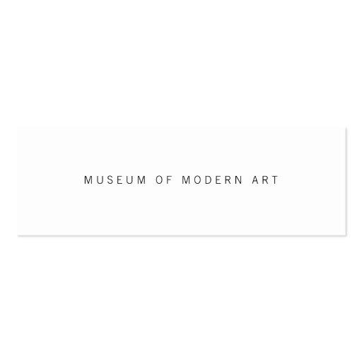 Museums-minimale vordere und hintere Mittelzwei Visitenkarte