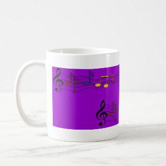 Music mug with notes - Musiktasse mit Noten Tasse