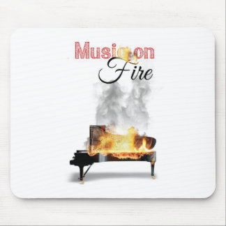 Music on fire mousepad