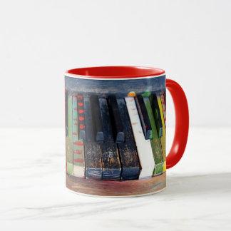 Musical gemaltes Klavier befestigt Kaffee-Tasse Tasse