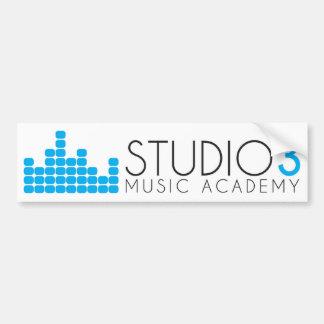 Musik-Akademie des Studio-3 Autoaufkleber