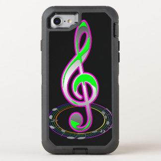 Musik-Anmerkung OtterBox Defender iPhone 8/7 Hülle