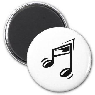 Musik-Anmerkung Runder Magnet 5,1 Cm