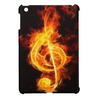 Musik-Anmerkung über Feuer iPad Mini Hülle