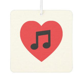 Musik-Anmerkungs-Herz-Auto-Lufterfrischer Lufterfrischer