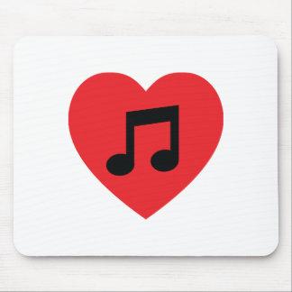 Musik-Anmerkungs-Herz Mousepad