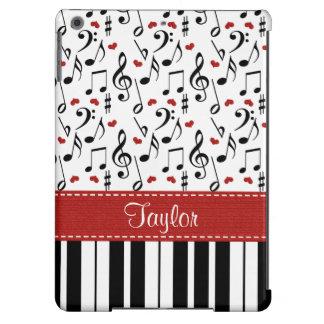 Musik-Anmerkungs-Klavier iPad Air Hülle