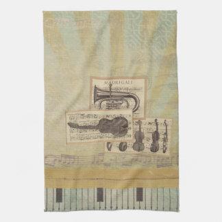 Musik Anmerkungs-Muster-Musik-Thema-Geschirrtuch Handtuch