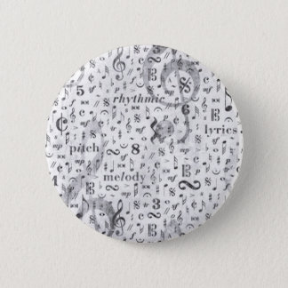 Musik-Anmerkungs-Muster-Musik-Thema Runder Button 5,7 Cm
