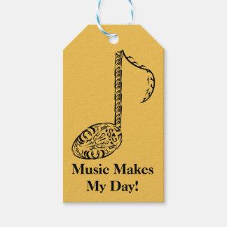 Musik-Anmerkungs-Violinen-oder Klavier-Stammes- Geschenkanhänger