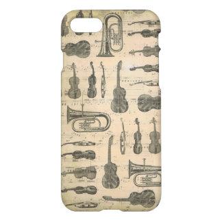 Musik-Anmerkungtuba-Gitarren-Violine Iphone 7 Fall iPhone 8/7 Hülle