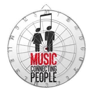 Musik-anschließenleute Dartscheibe