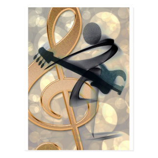 Musik aufgereihtes Instrument-Gitarren-Schicksal D Postkarten
