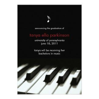 Musik-bedeutende Klavier-Abschluss-Mitteilung