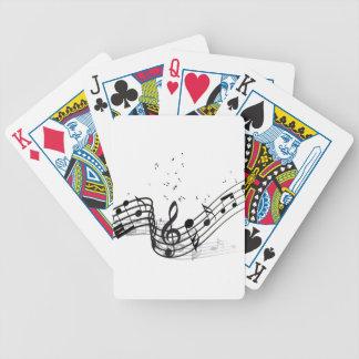 Musik Bicycle Spielkarten