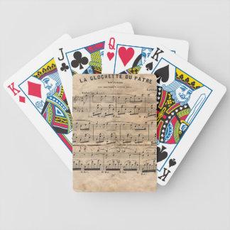 Musik-Blatt Bicycle Spielkarten