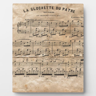 Musik-Blatt Fotoplatte