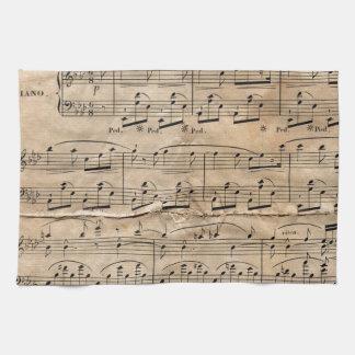 Musik-Blatt Geschirrtuch