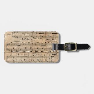 Musik-Blatt Kofferanhänger