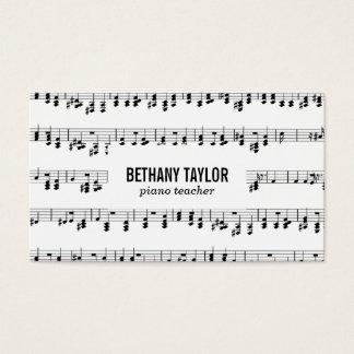 Musik-Blatt Visitenkarte