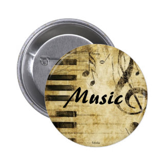 Musik Runder Button 5,7 Cm