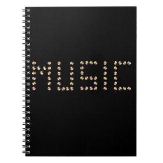 Musik-CD-Notizbuch Notizblock