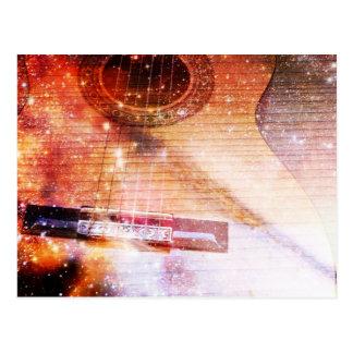 Musik der Universum-Postkarte Postkarten
