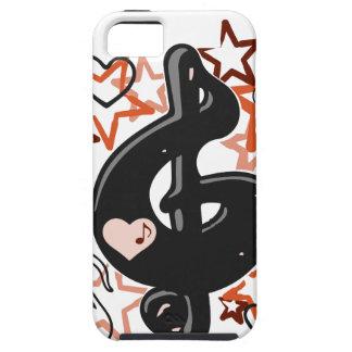 Musik des dreifachen Clef mit Sternen iPhone 5 Cover