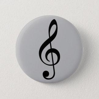 Musik des dreifachen Clef Runder Button 5,7 Cm