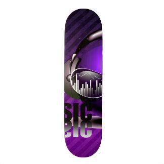 Musik, die in meine Ohren pumpt Individuelle Skateboarddecks
