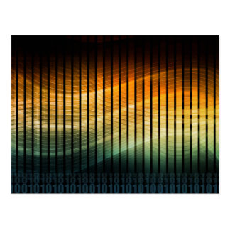 Musik-Disco DJ Techno Soundwave Postkarte