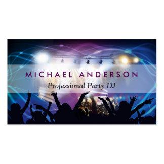 Musik DJ-Party-Konzert-Planer - modernes Visitenkarten