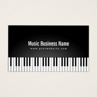 Musik-eleganter schwarzer Flügel befestigt Musical Visitenkarte