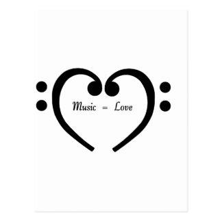 Musik entspricht Liebe Postkarte